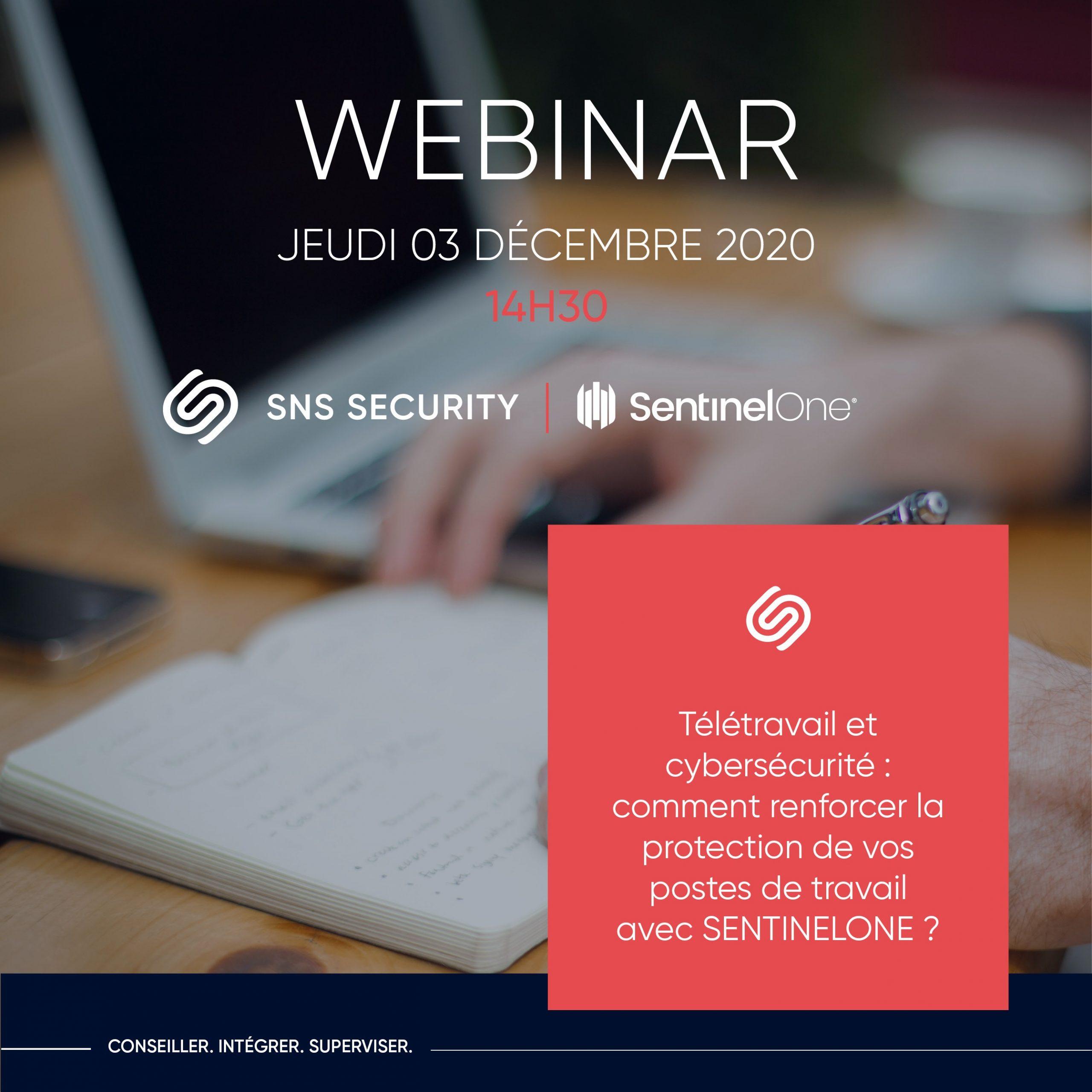 webinar sns security sentinelone protection endpoint epp edr 3 decembre 2020